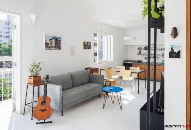 طراحی آپارتمان با مساحت کم
