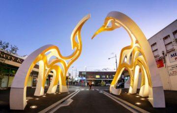 طراحی المان در ورودی شهر