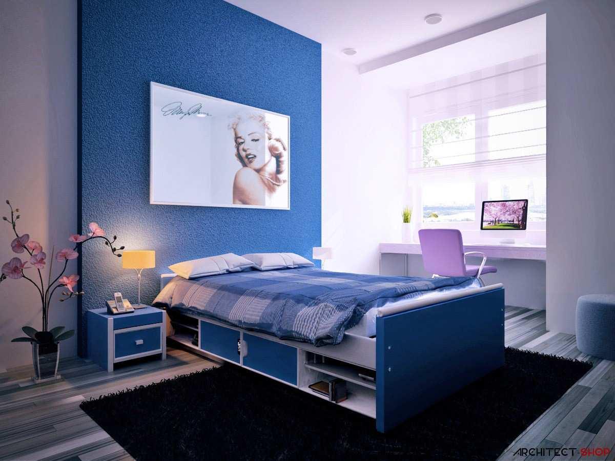 30 اتاق خواب آبی رنگ که آرامش و آسودگی را به فضای خواب شما می بخشند - Blue Bedrooms 11