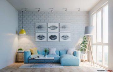 طراحی 30 نمونه نشیمن با تم آبی برای آرامش ذهن، جسم و روح