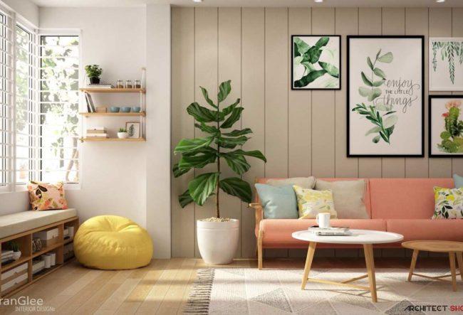 طراحی داخلی سه نمونه آپارتمان با فضایی رنگارنگ