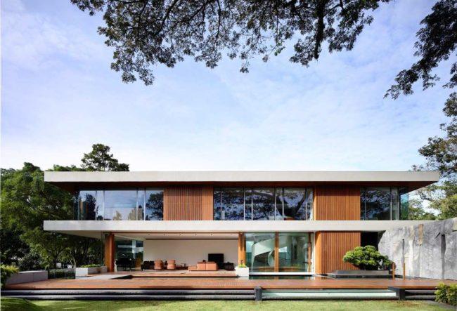 طراحی خانه معاصر با شکوه در سنگاپور