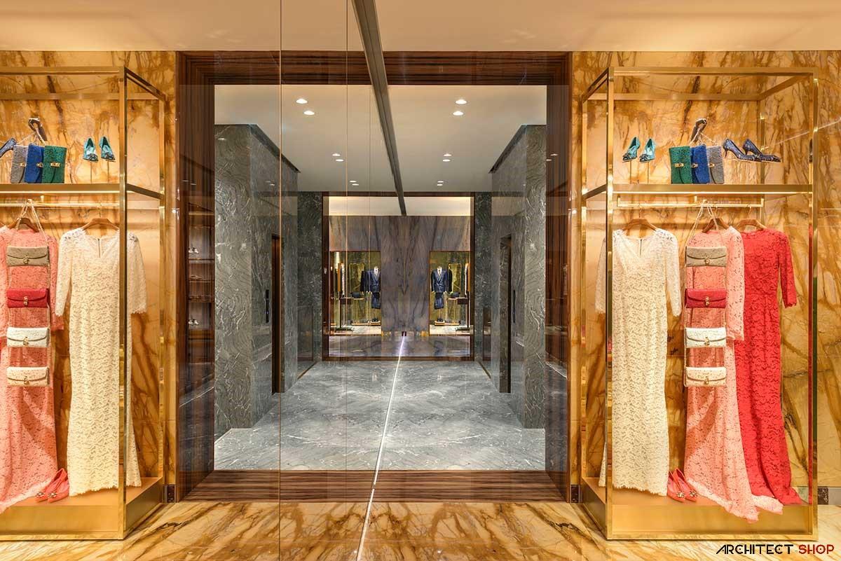 طراحی فروشگاه لوکس برند های دولچه و گابانادر ایتالیا - Dolce Gabbana Stores 10