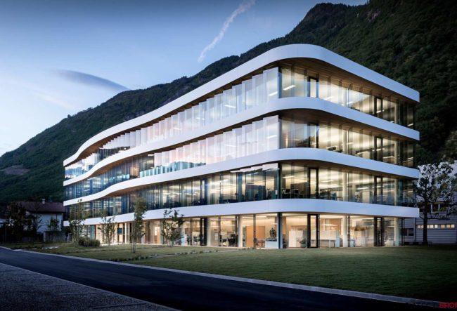 طراحی ساختمان شرکت Dr Schar در ایتالیا