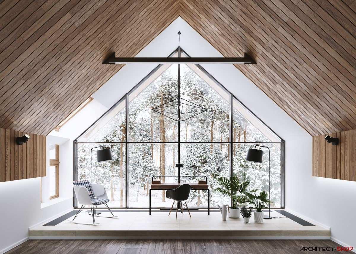 طراحی 50 نمونه دفتر کار مدرن خانگی با ایده های الهام بخش - Modern Home Office 10
