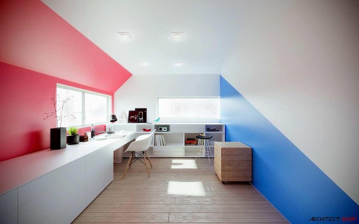 طراحی 50 نمونه دفتر کار مدرن خانگی با ایده های الهام بخش - Modern Home Office 12