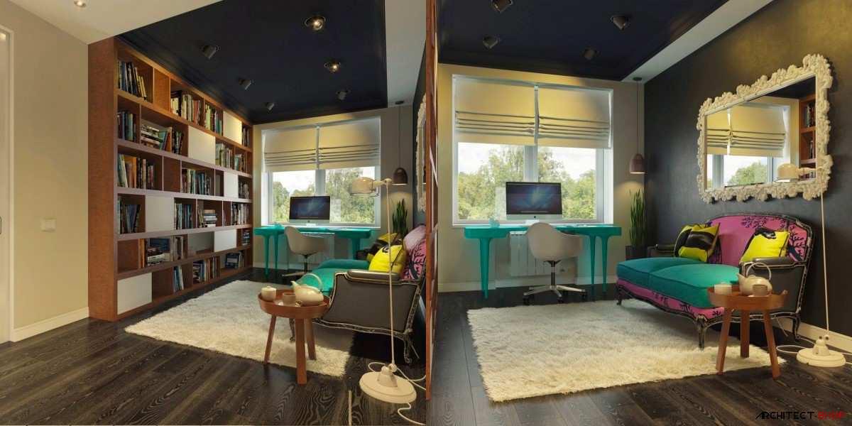 طراحی 50 نمونه دفتر کار مدرن خانگی با ایده های الهام بخش - Modern Home Office 13