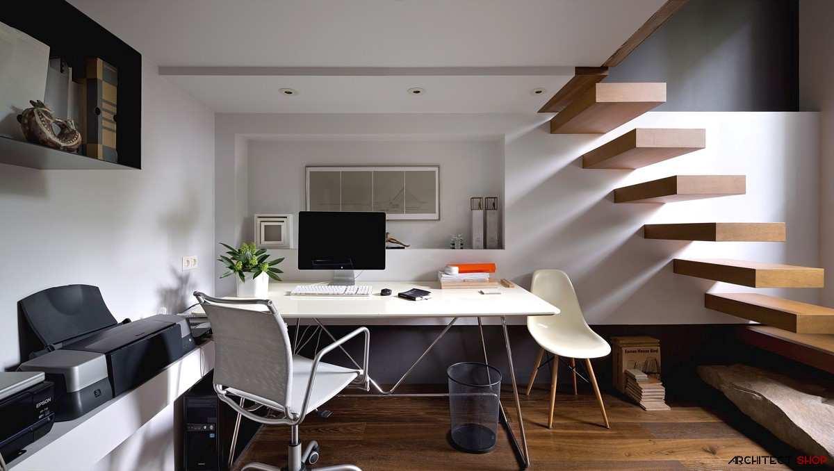 طراحی 50 نمونه دفتر کار مدرن خانگی با ایده های الهام بخش - Modern Home Office 17
