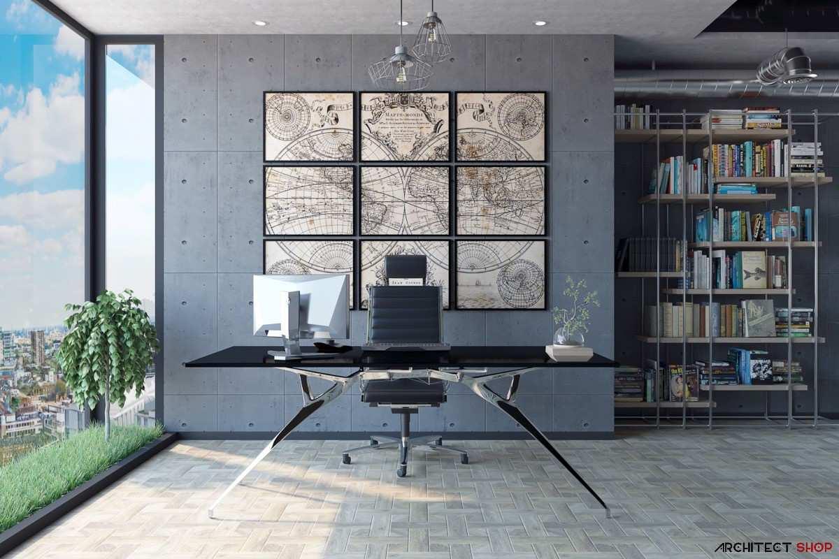 طراحی 50 نمونه دفتر کار مدرن خانگی با ایده های الهام بخش - Modern Home Office 19