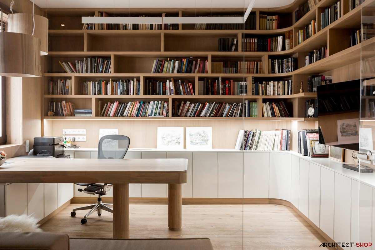 طراحی 50 نمونه دفتر کار مدرن خانگی با ایده های الهام بخش - Modern Home Office 2