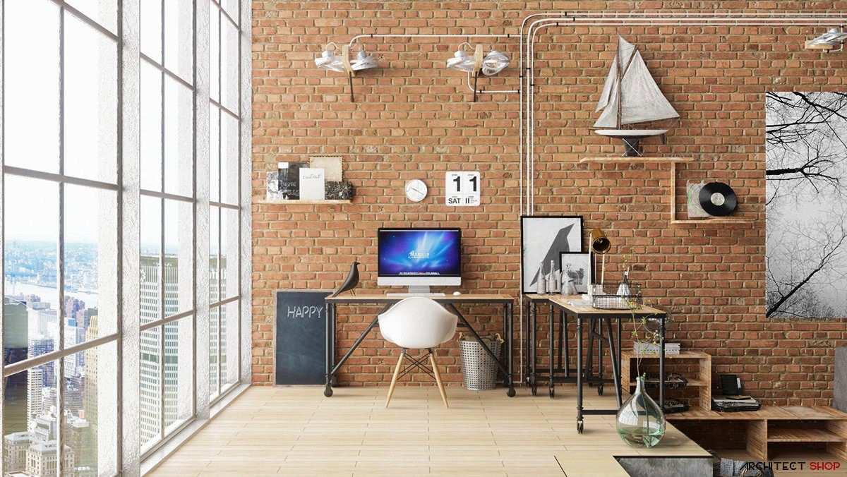 طراحی 50 نمونه دفتر کار مدرن خانگی با ایده های الهام بخش - Modern Home Office 20