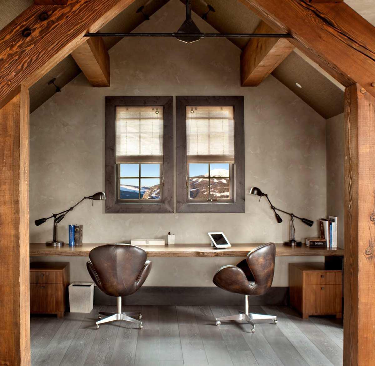 طراحی 50 نمونه دفتر کار مدرن خانگی با ایده های الهام بخش - Modern Home Office 21