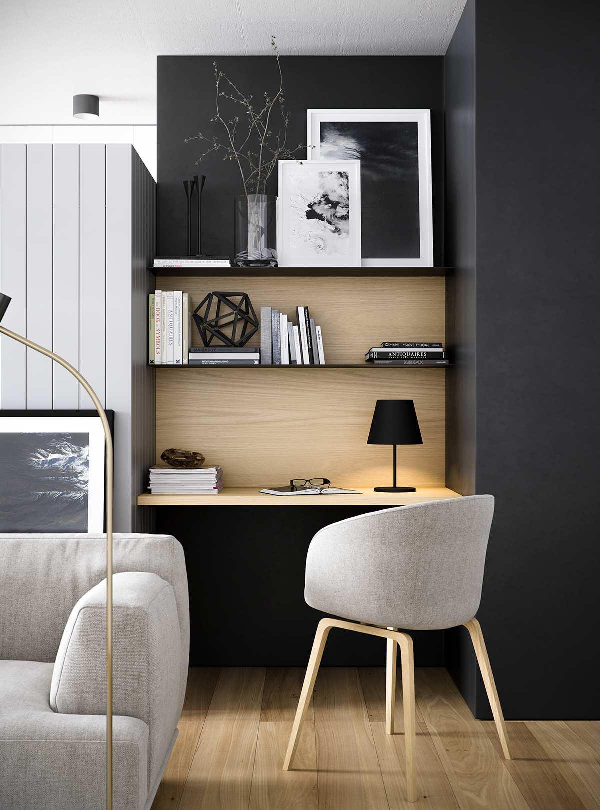 طراحی داخلی دفتر کار خانگی مدرن