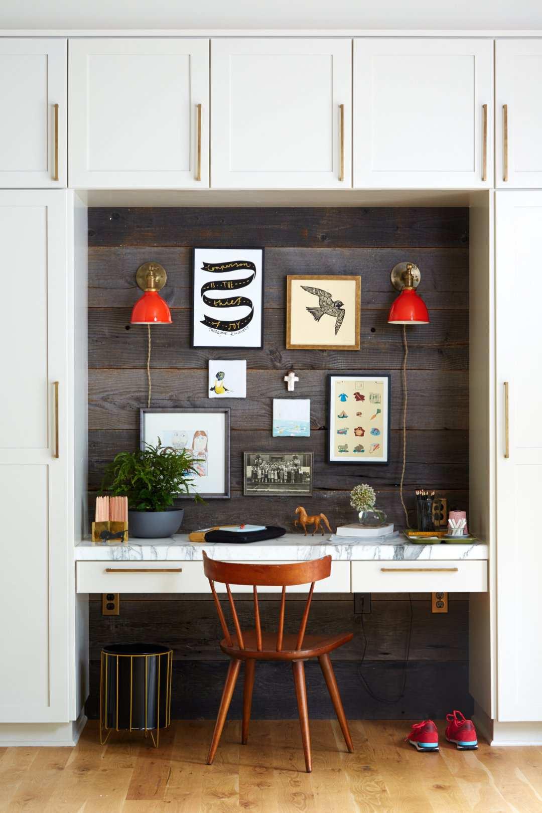 طراحی 50 نمونه دفتر کار مدرن خانگی با ایده های الهام بخش - Modern Home Office 24