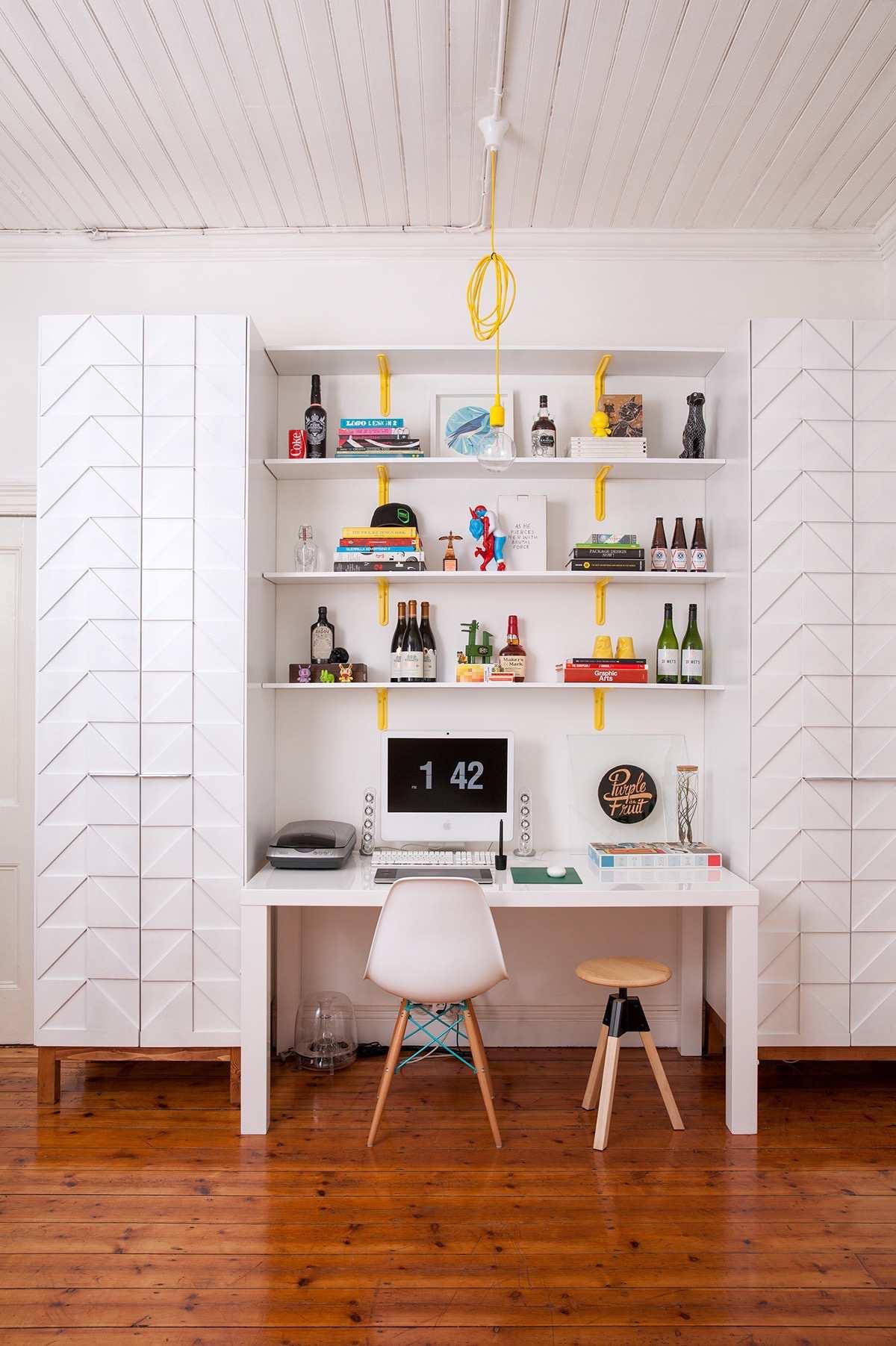 طراحی 50 نمونه دفتر کار مدرن خانگی با ایده های الهام بخش - Modern Home Office 26