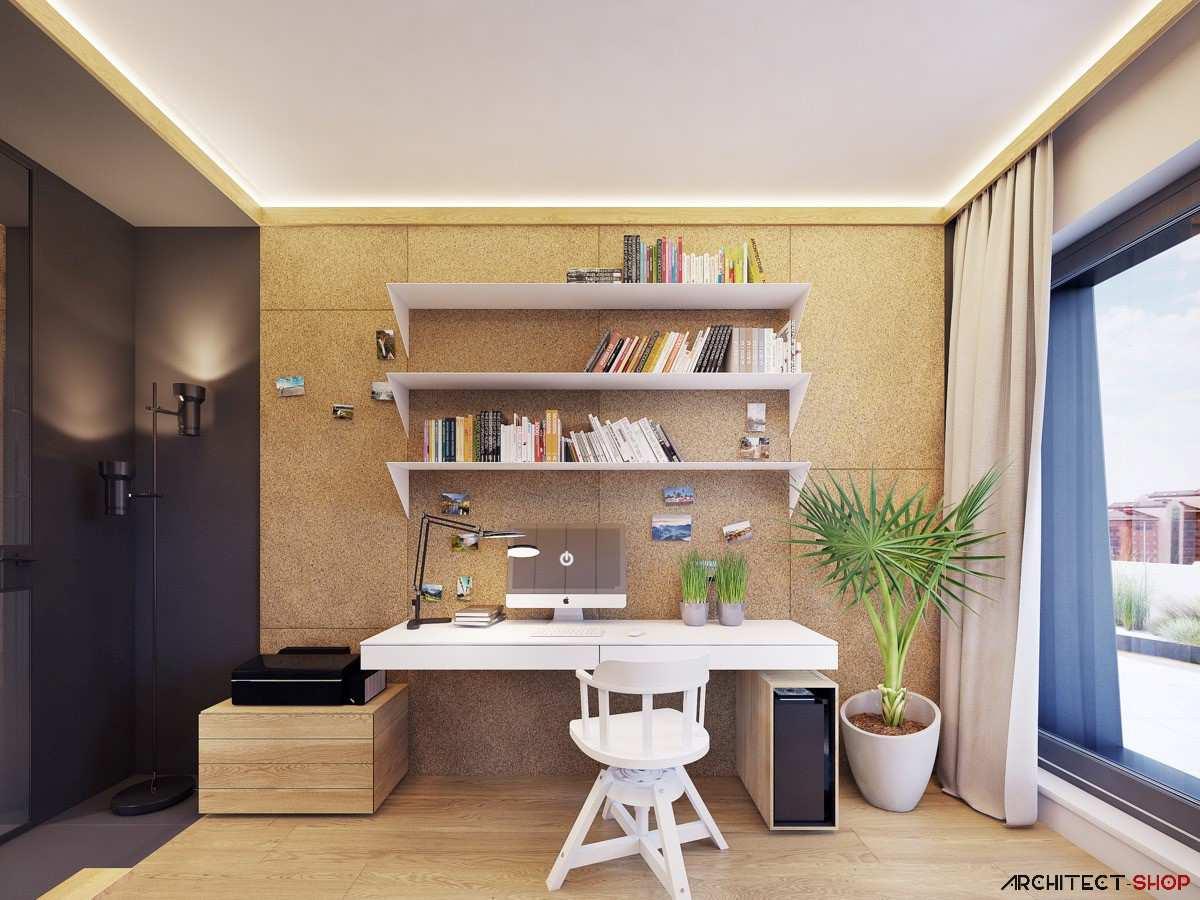 طراحی 50 نمونه دفتر کار مدرن خانگی با ایده های الهام بخش - Modern Home Office 27