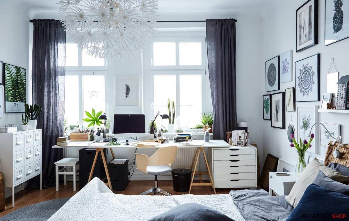 طراحی 50 نمونه دفتر کار مدرن خانگی با ایده های الهام بخش - Modern Home Office 29