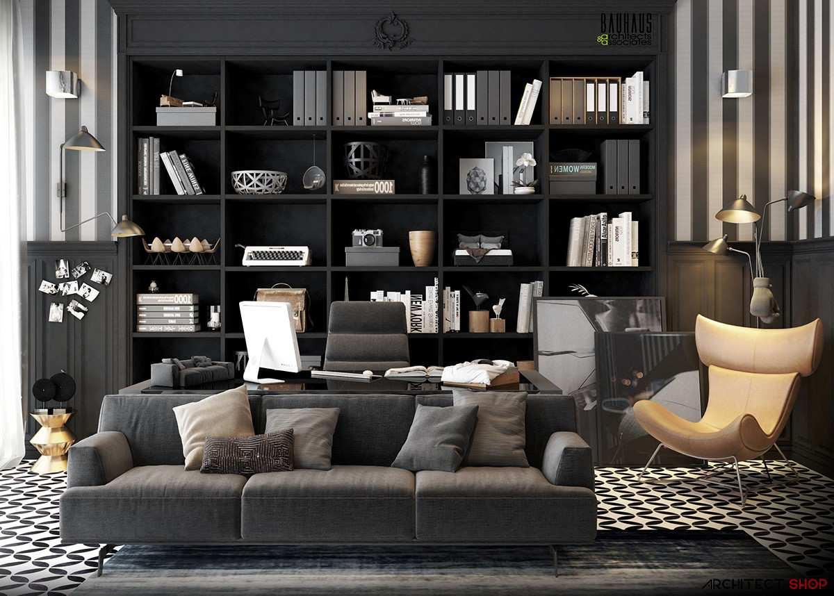 طراحی 50 نمونه دفتر کار مدرن خانگی با ایده های الهام بخش - Modern Home Office 3
