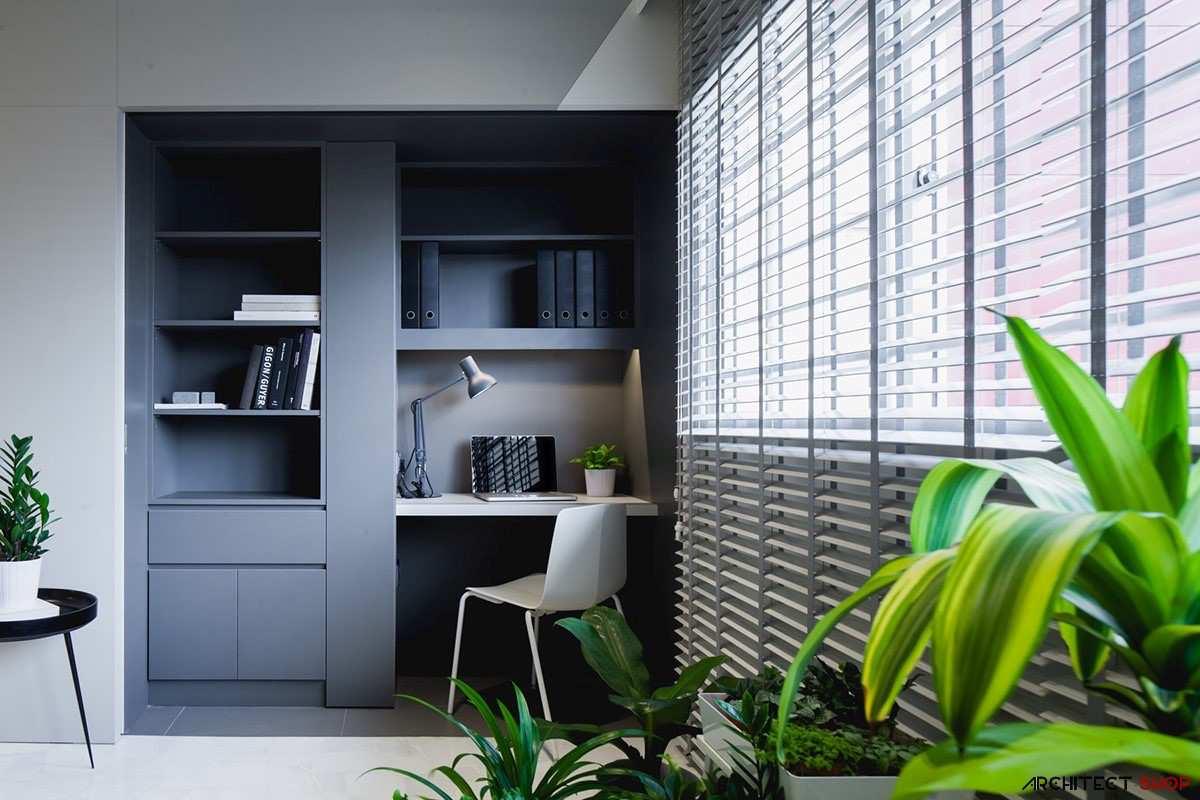 طراحی 50 نمونه دفتر کار مدرن خانگی با ایده های الهام بخش - Modern Home Office 30