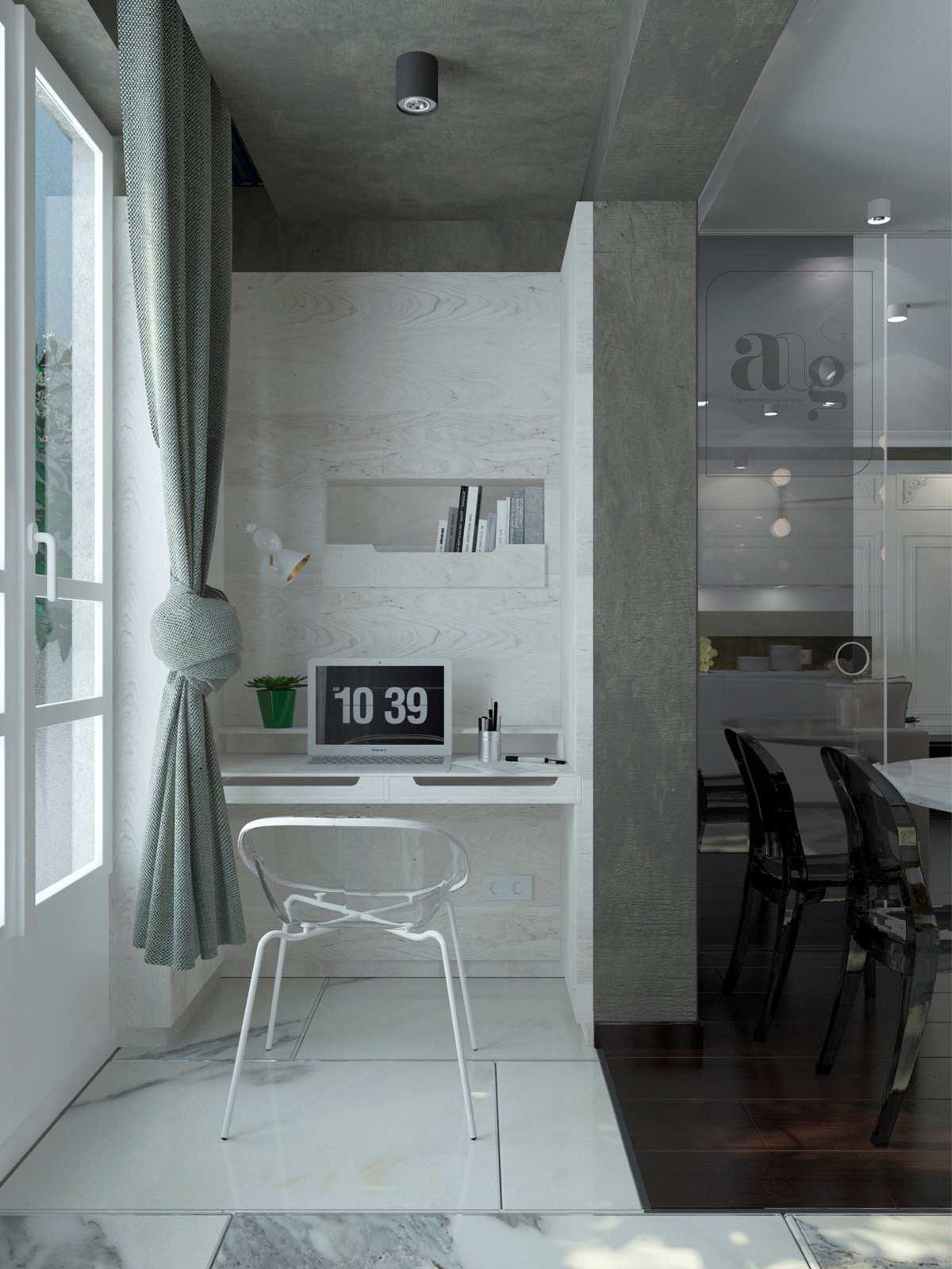 طراحی 50 نمونه دفتر کار مدرن خانگی با ایده های الهام بخش - Modern Home Office 31