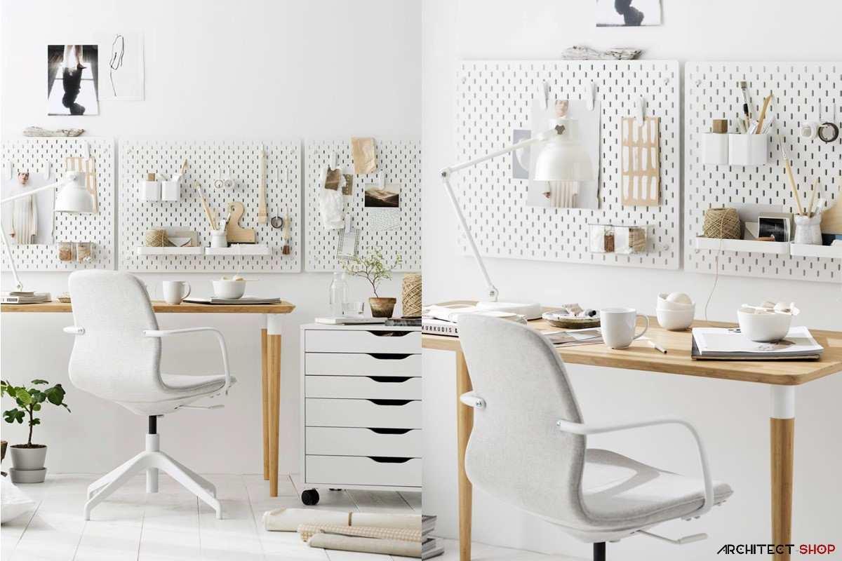 طراحی 50 نمونه دفتر کار مدرن خانگی با ایده های الهام بخش - Modern Home Office 34