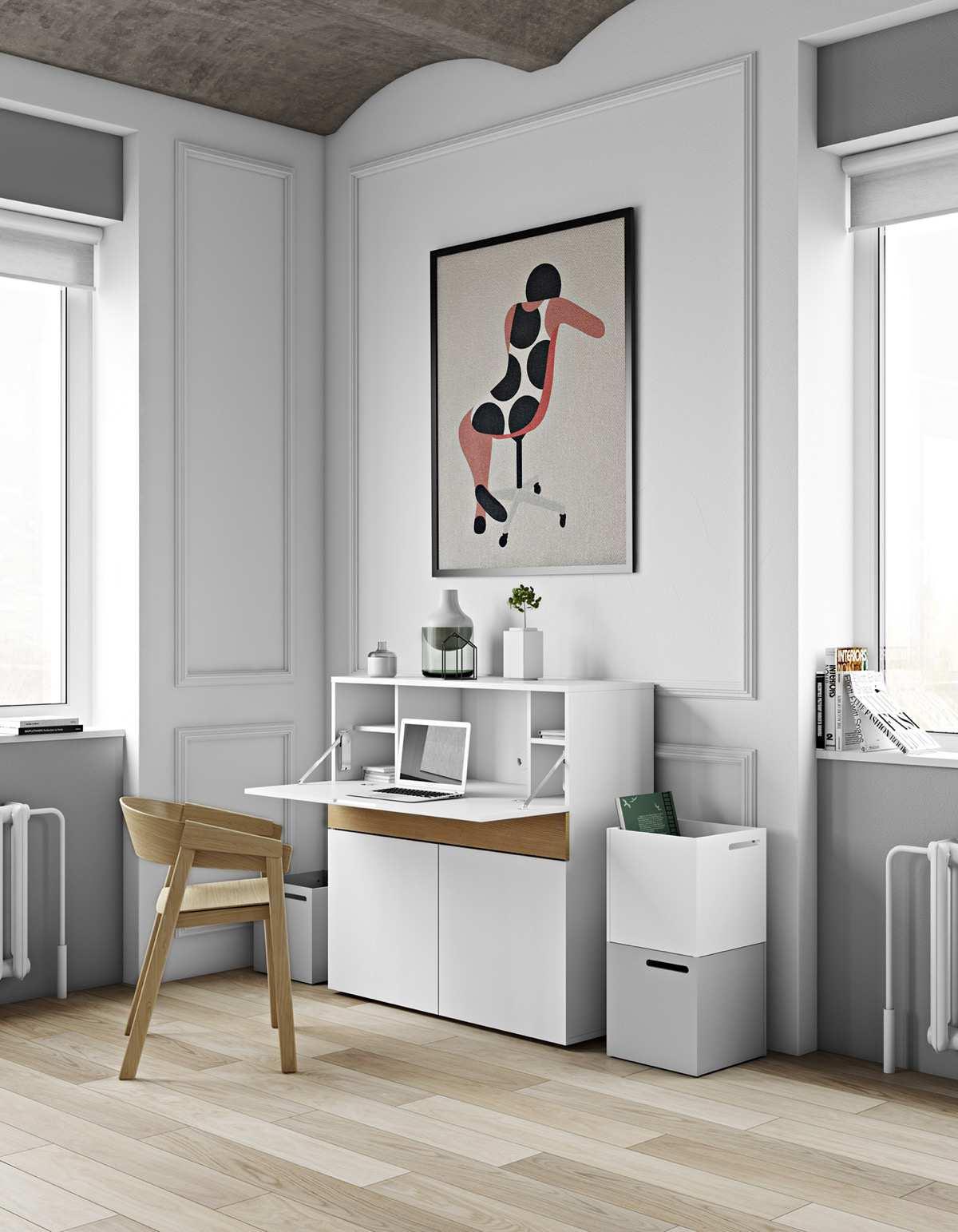 طراحی 50 نمونه دفتر کار مدرن خانگی با ایده های الهام بخش - Modern Home Office 36