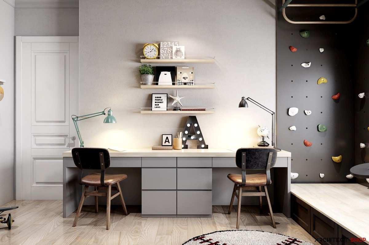 طراحی 50 نمونه دفتر کار مدرن خانگی با ایده های الهام بخش - Modern Home Office 41