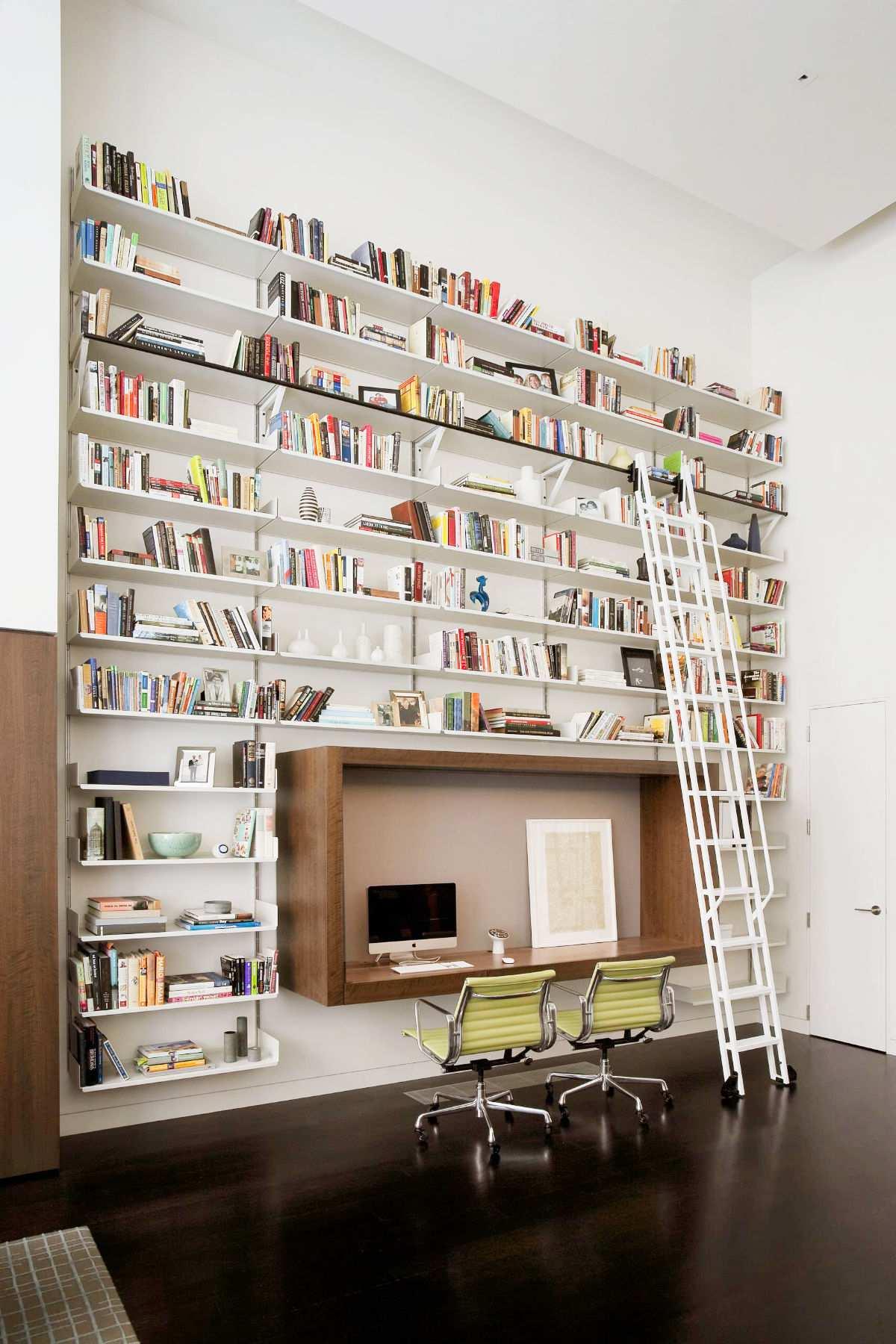 طراحی 50 نمونه دفتر کار مدرن خانگی با ایده های الهام بخش - Modern Home Office 43