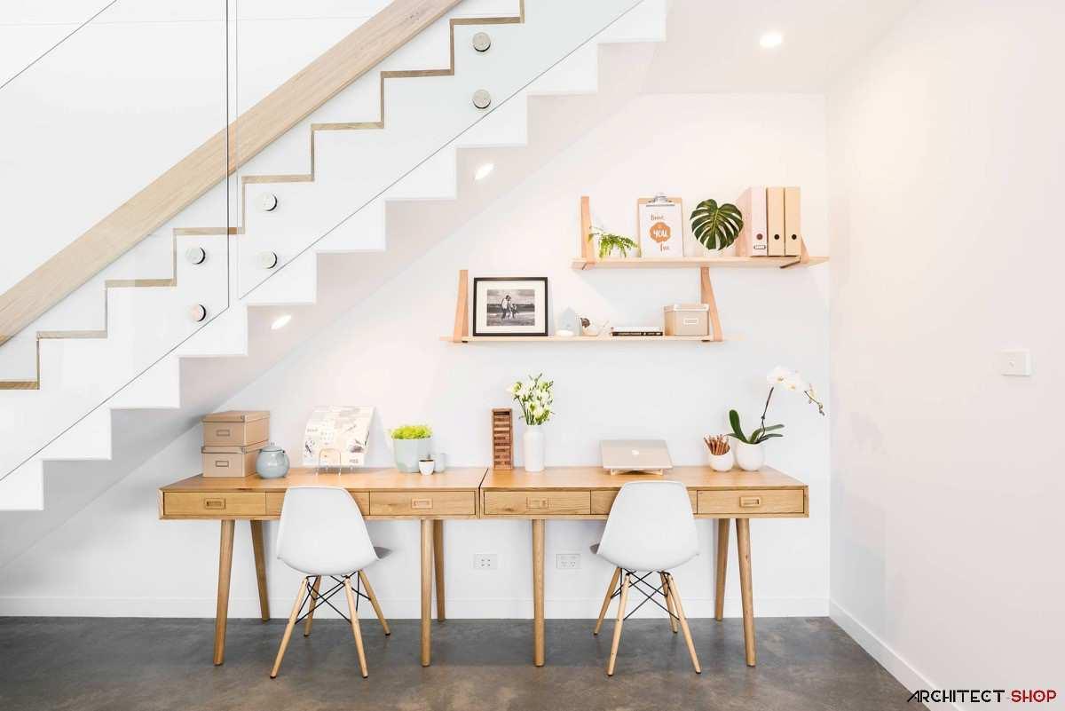 طراحی 50 نمونه دفتر کار مدرن خانگی با ایده های الهام بخش - Modern Home Office 46