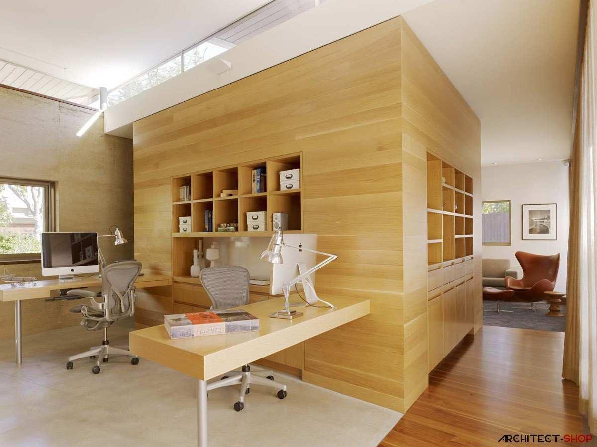 طراحی 50 نمونه دفتر کار مدرن خانگی با ایده های الهام بخش - Modern Home Office 6