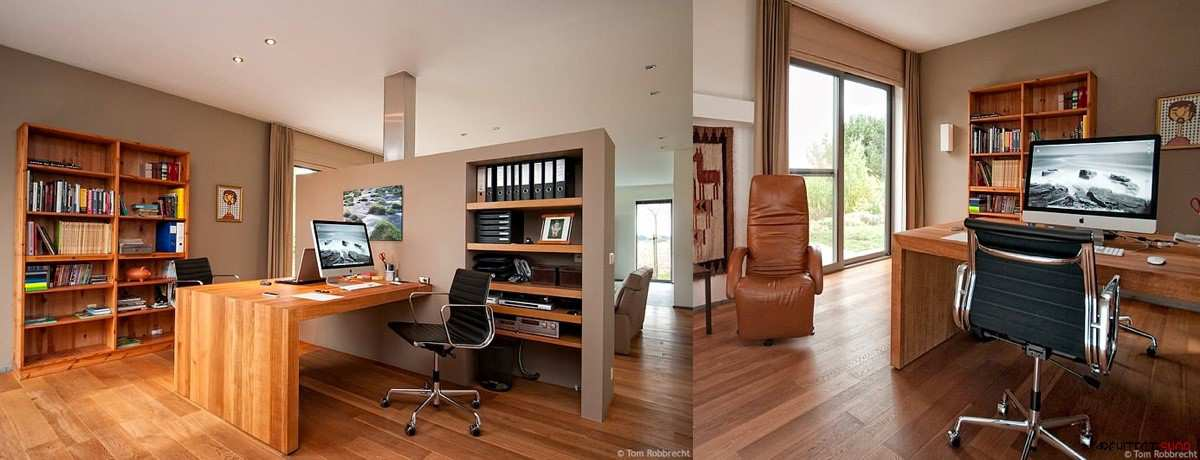 طراحی 50 نمونه دفتر کار مدرن خانگی با ایده های الهام بخش - Modern Home Office 7
