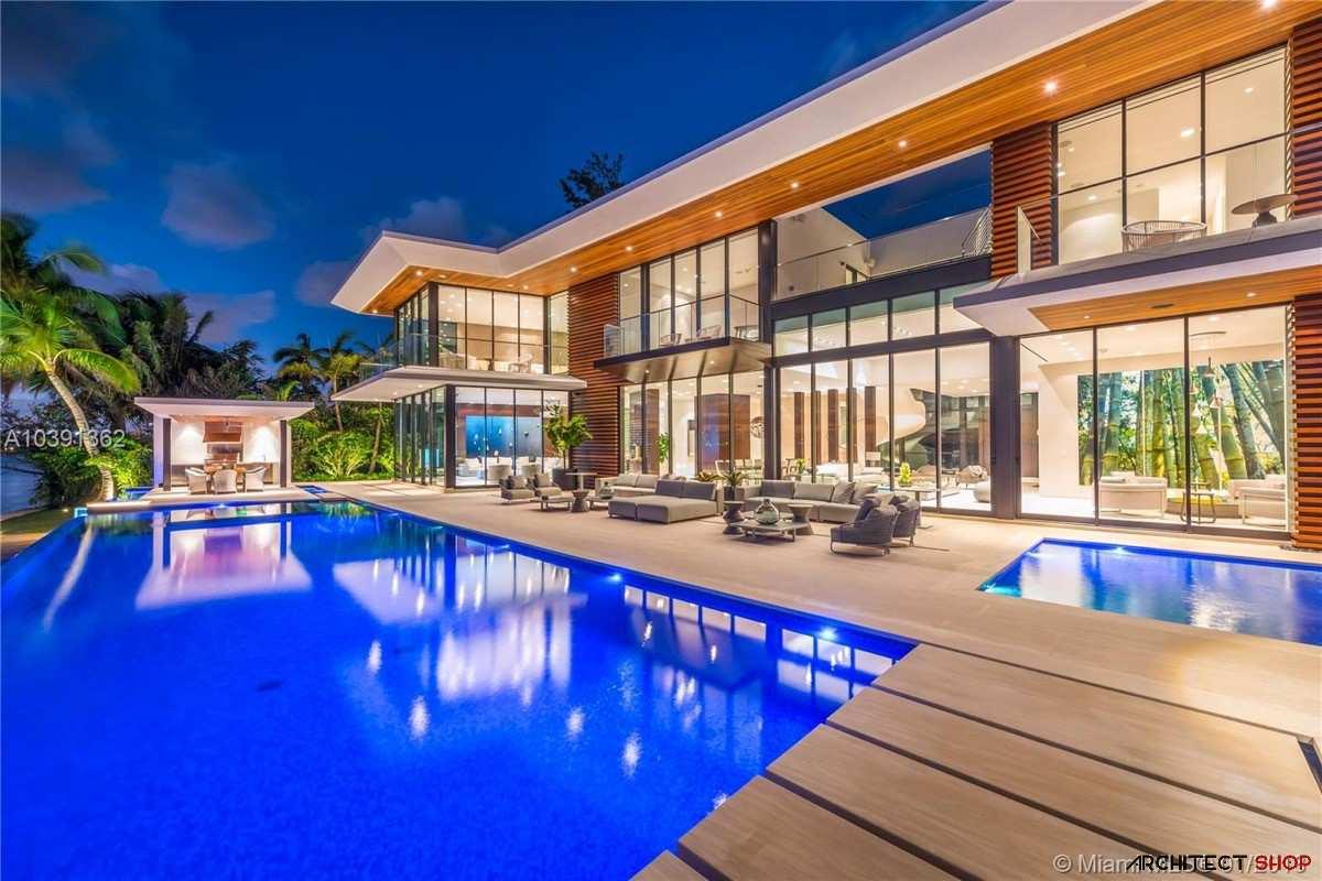 طراحی ویلای مدرن در میامی با پانورامای اقیانوس - Modern Miami Mansion 39
