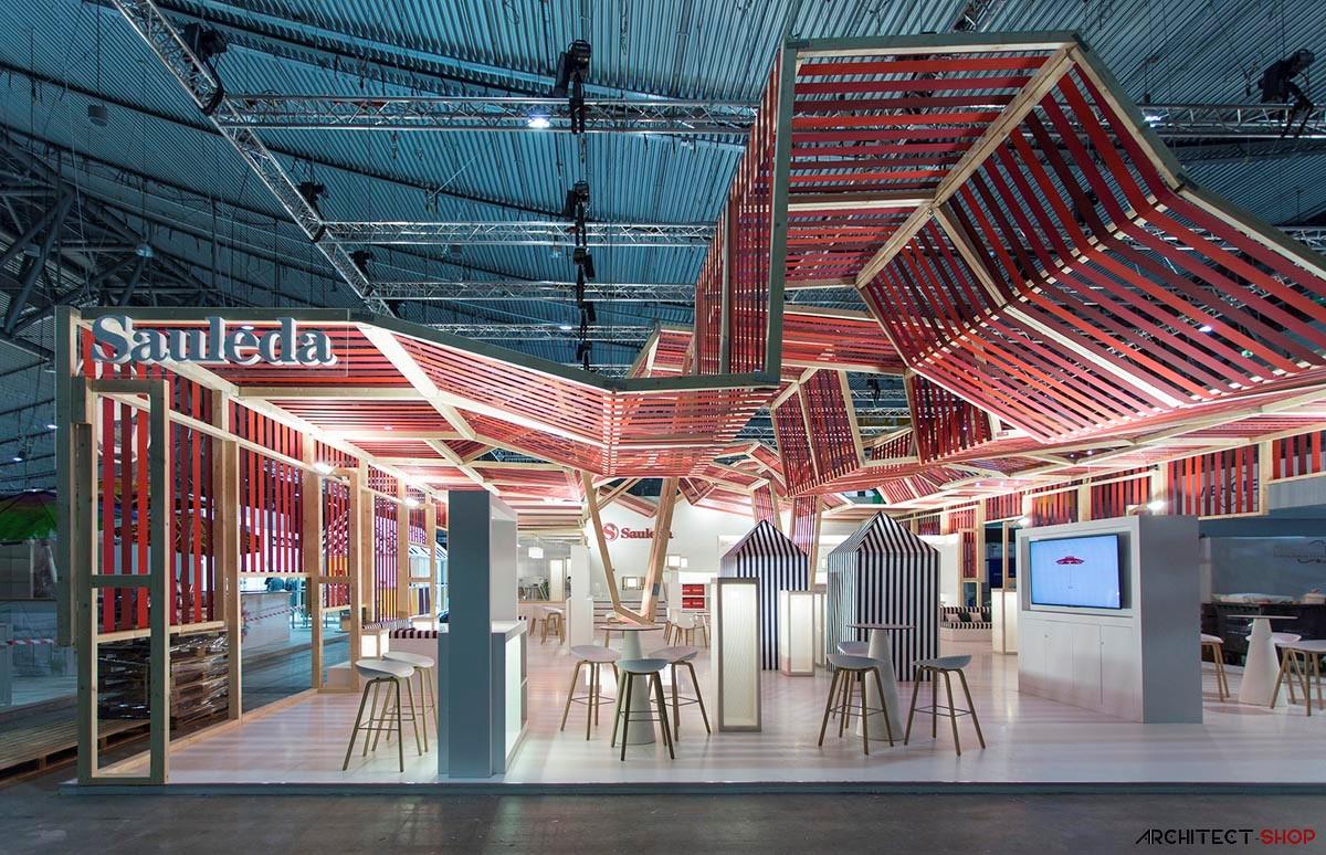 طراحی غرفه نمایشگاهی کمپانی تولید پارچه - Pavilion Company Sauleda 2