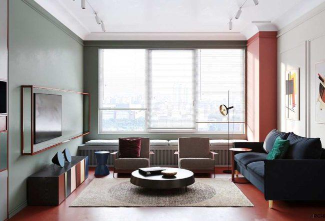 طراحی داخلی آپارتمان با فضایی برای علاقمندان به هنر