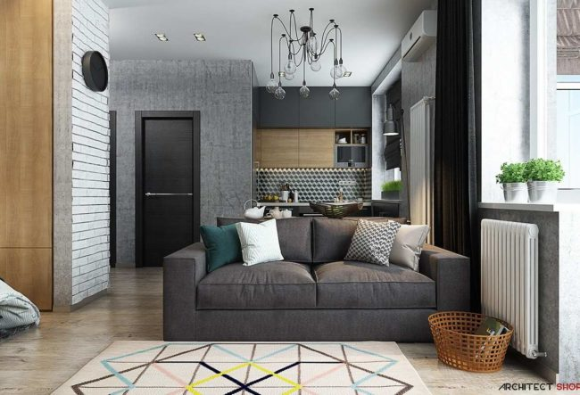 طراحی داخلی آپارتمان زیر 50 متر مربع