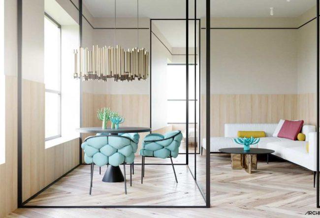 طراحی داخلی 4 نمونه آپارتمان با دکوراسیون تابستانی