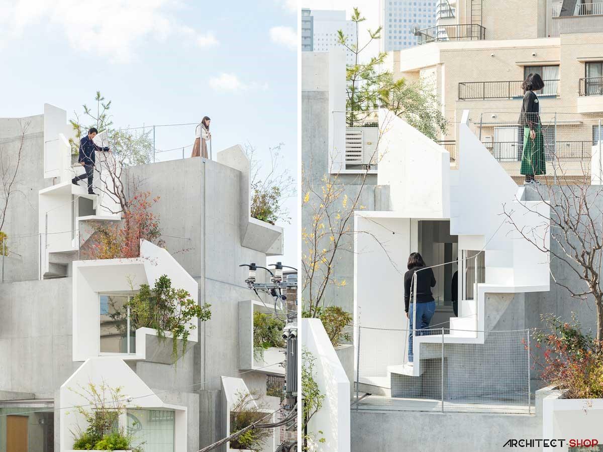 طراحی ساختمان مسکونی در توکیو - Tree ness House 2