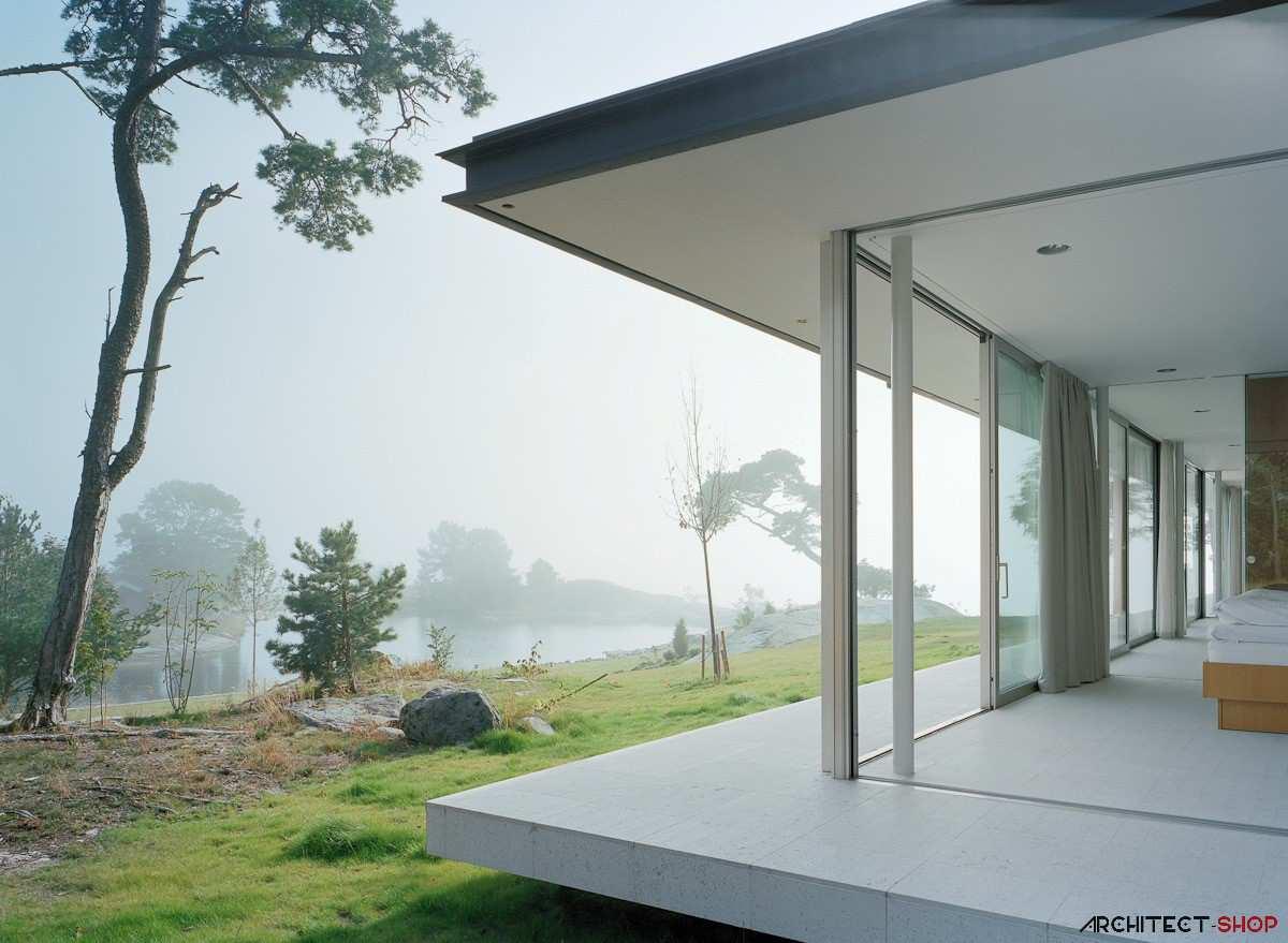 طراحی ویلای لوکس در جزیره خصوصی سوئد - Villa Kymmendo 10
