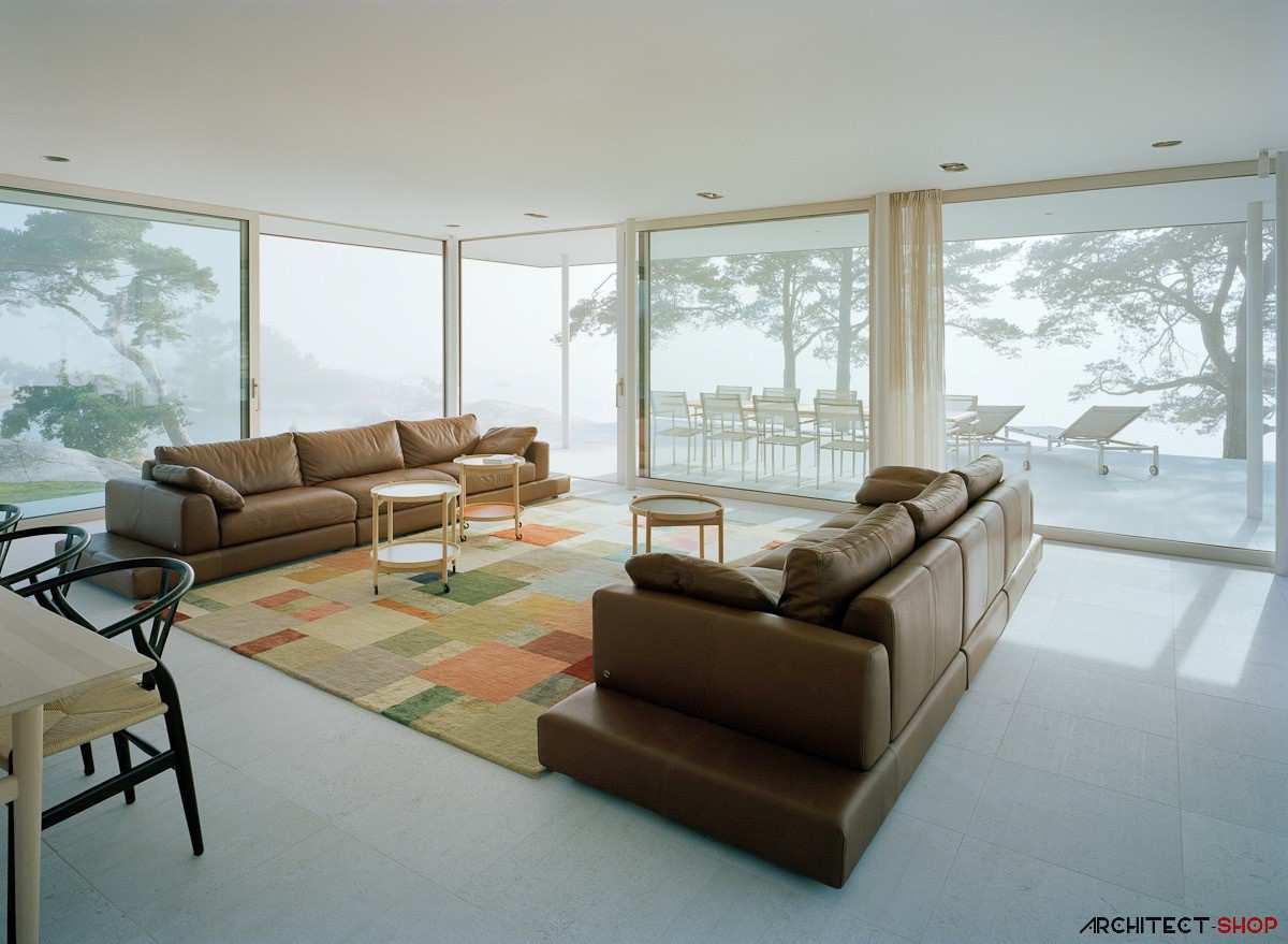 طراحی ویلای لوکس در جزیره خصوصی سوئد - Villa Kymmendo 12