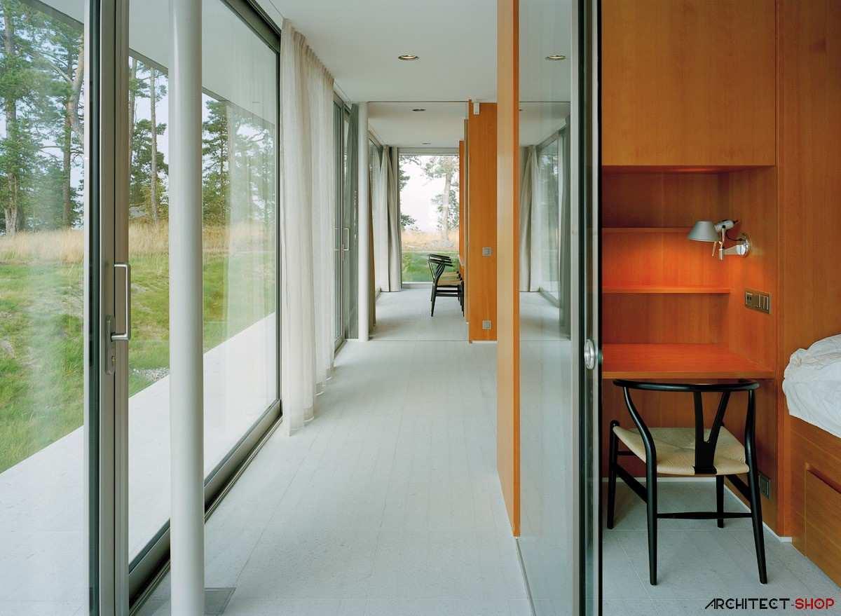 طراحی ویلای لوکس در جزیره خصوصی سوئد - Villa Kymmendo 14