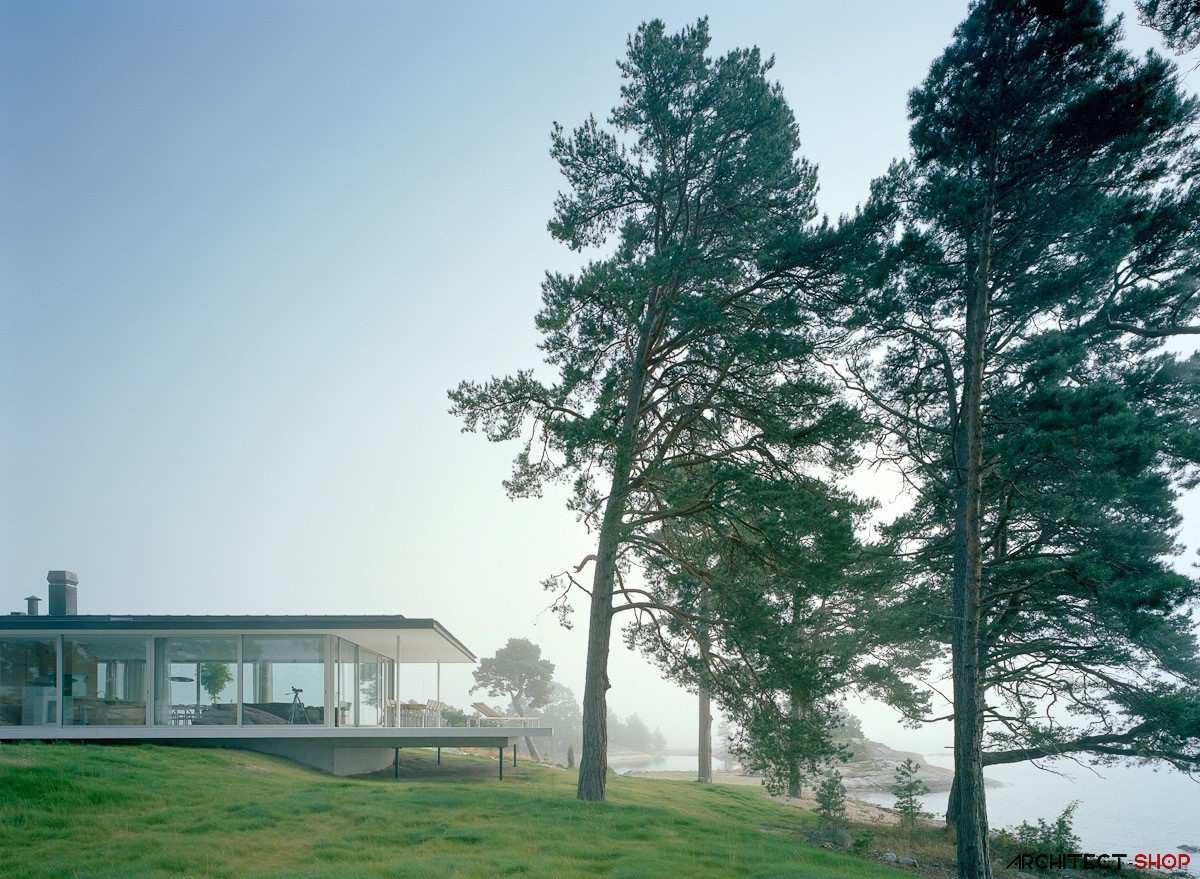 طراحی ویلای لوکس در جزیره خصوصی سوئد - Villa Kymmendo 2