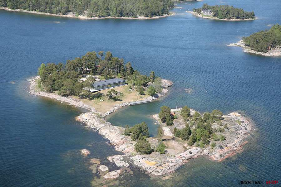طراحی ویلای لوکس در جزیره خصوصی سوئد - Villa Kymmendo 21