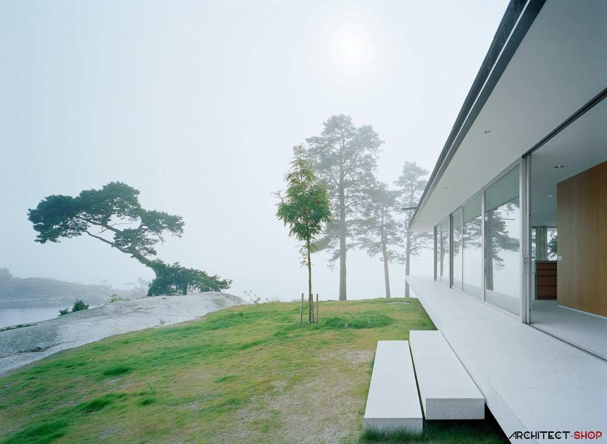 طراحی ویلای لوکس در جزیره خصوصی سوئد - Villa Kymmendo 3