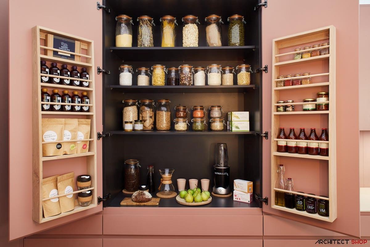 طراحی آشپزخانه با تم صورتی - Wellness Kitchen 3