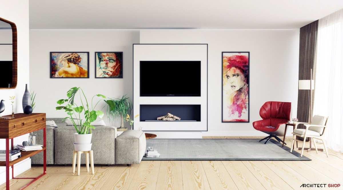طراحی مدرن میز تلویزیون