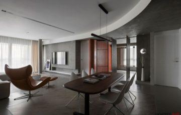 طراحی داخلی آپارتمان با ترکیب دو سبک متفاوت