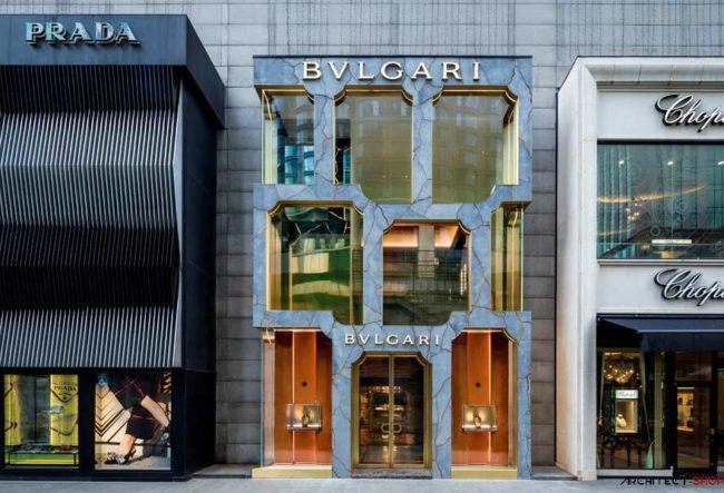طراحی نمای فروشگاه بولگاری توسط شرکت معماری MVRDV