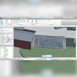آموزش مدل سازی دیوار های پرده ایی در Revit