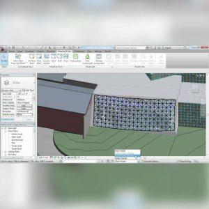 آموزش طراحی و ساخت دیوار های پرده ایی در Revit - curtain walls revit  300x300