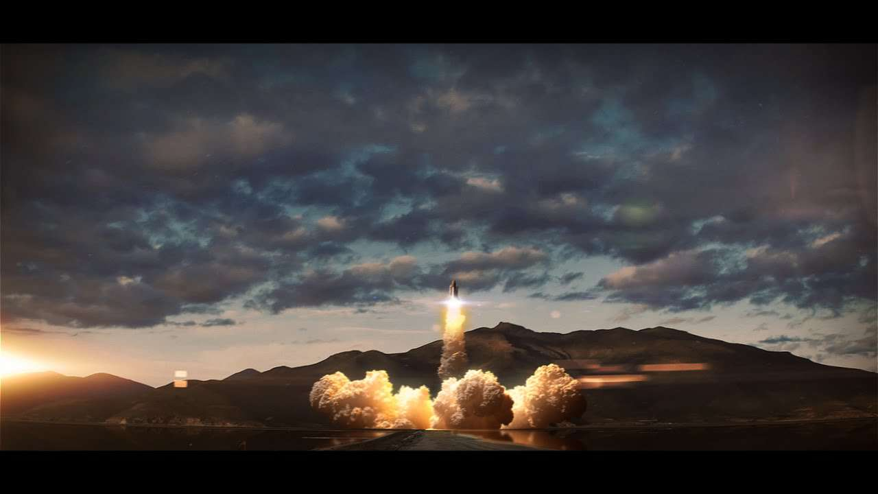 شبیه سازی پرتاب موشک در 3ds Max